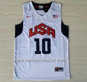 Maglie basket 2012 USA Kobi bryant #10 bianco