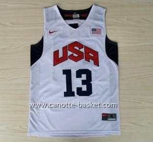Maglie basket 2012 USA Chris Paul #13 bianco