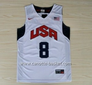 Maglie basket 2012 USA Deron Williams #8  bianco