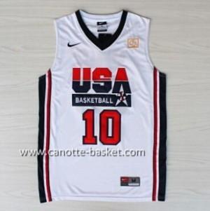 maglie basket 1992 USA Clyde Drexler # 10 bianco
