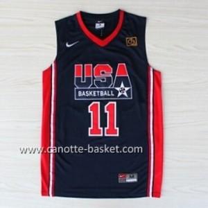 maglie basket 1992 USA Karl Malone #11 blu
