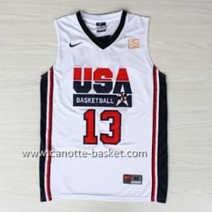 maglie basket 1992 USA Chris Mullin #13 bianco