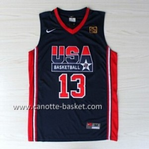 maglie basket 1992 USA Chris Mullin #13 blu