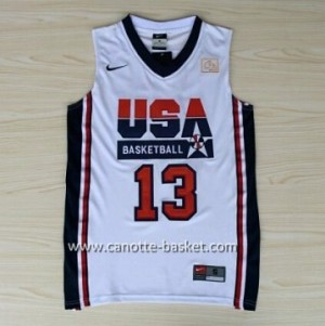 maglie basket 1992 USA Chris Paul #13 bianco