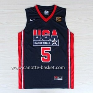 maglie basket 1992 USA David Robinson #5 blu