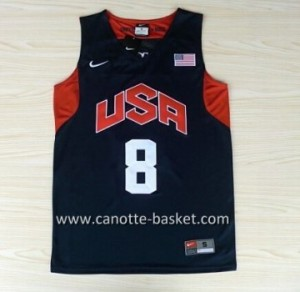 Maglie basket 2012 USA Deron Williams #8 nero