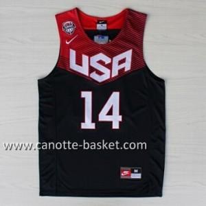 Maglie basket 2014 USA Anthony Davis #14 nero