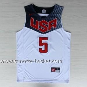 Maglie basket 2014 USA Kevin Durant #5 bianco