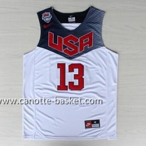 Maglie basket 2014 USA James Harden #13 bianco