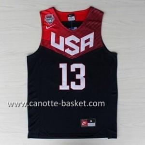 Maglie basket 2014 USA James Harden #13 nero