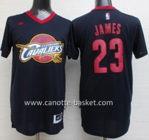 Maglie nba Cleveland Cavalier LeBron James #23 blu manica corta
