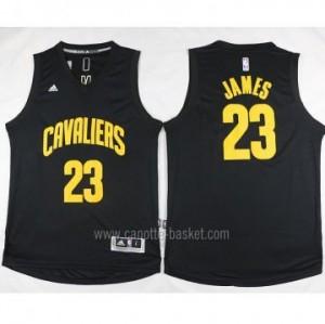 nuovo Maglie nba Cleveland Cavalier LeBron James #23 nero