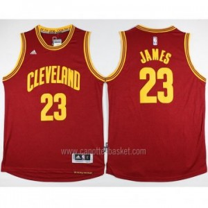 nuovo Maglie nba Cleveland Cavalier LeBron James #23 rosso