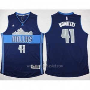 nuovo Maglie nba Dallas Mavericks Dirk Nowitzki #41 deep blu