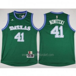 nuovo Maglie nba Dallas Mavericks Dirk Nowitzki #41 verde