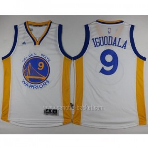 nuovo Maglie nba Golden State Warriors Andre Iguodala #9 bianco