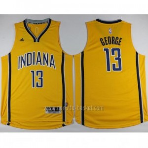 nuovo Maglie nba Indiana Pacers Paul George #13 giallo