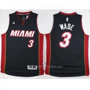 nuovo Maglie nba Miami Heat Dwyane Wade #3 nero