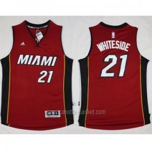 nuovo Maglie nba Miami Heat Hassan Whiteside #21 rosso