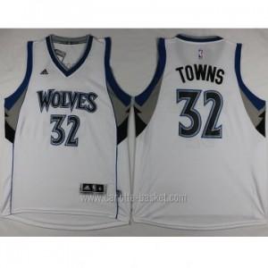 nuovo Maglie nba Minnesota Timberwolves Karl-Anthony Towns #32 bianco
