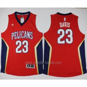 nuovo Maglie nba New Orleans Pelicans rosso Anthony Davis #23