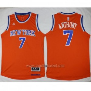 nuovo Maglie nba New York Knicks Carmelo Anthony #7 arancione