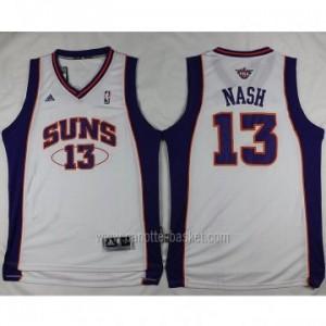 nuovo Maglie nba Phoenix Suns Steve Nash #13 bianco