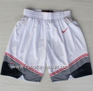 pantaloncini basket 2014 USA bianco